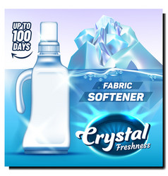 Crystal freshness fabric softener poster vector