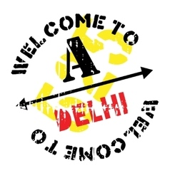 Delhi stamp rubber grunge vector