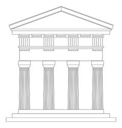 Doric temple vector