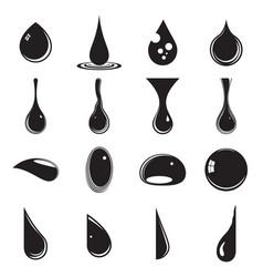 drops various liquids vector image