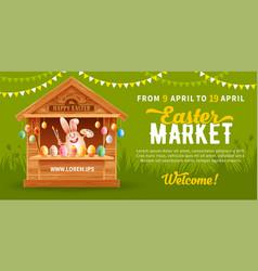 easter market flyer template vector image