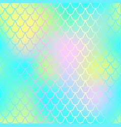 fish skin seamless pattern mermaid skin vector image