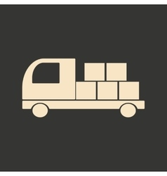 Flat in black and white mobile application Freight vector