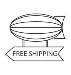 free shipping blimp balloon vector image