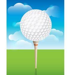 Golf Ball on Tee Background vector image