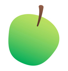 green apple icon isometric style vector image