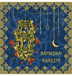 greeting card for muslim festival ramadan kareem vector image