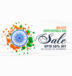 happy republic day india sale banner design vector image