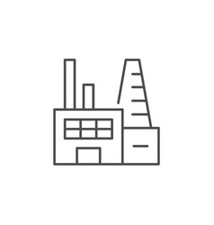 industrial factory line outline icon vector image