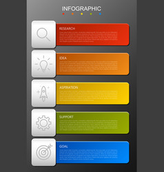 infographic elements in modern fashion vector image