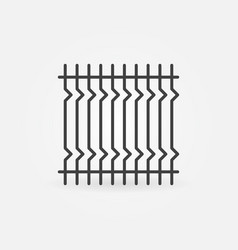 Iron fencing concept icon in outline style vector