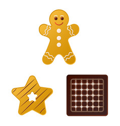 Isolated object of biscuit and bake icon vector