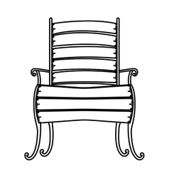 Isolated wood chair design vector