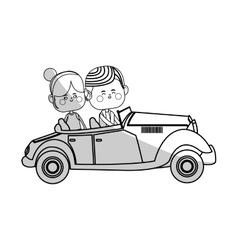 Kawaii couple in love vector