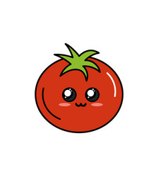 Kawaii cute tender tomato vegetable vector