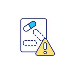 List medicaments rgb color icon vector