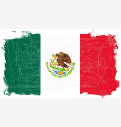 Mexican flag grunge vector