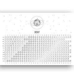 Moon Calendar 2017 vector image