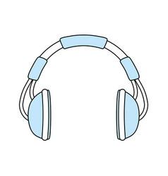 music headphones symbol vector image