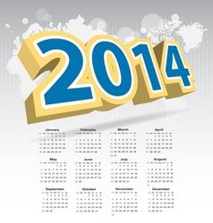 New year 2014 calendar vector