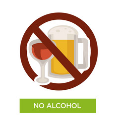 no alcohol sign restriction icon healthcare or vector image