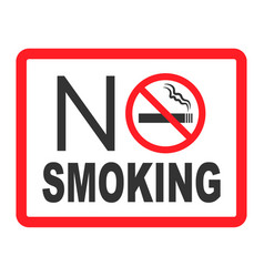 No smoking sign forbidden sign icon isolated on vector