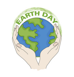 our earth planet ecological problem vector image