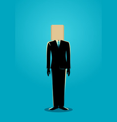 Paper bag head businessman vector