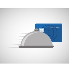 Payment credit card delivery food catering vector