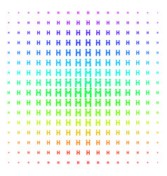 persons handshake shape halftone spectral grid vector image
