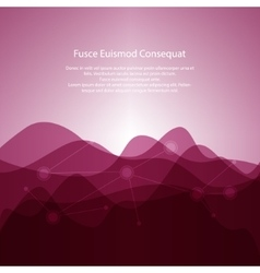 Pink Abstract Background from Waves vector image