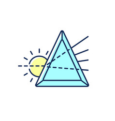 Prisma rgb color icon vector