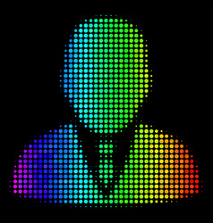 rainbow colored pixel boss icon vector image