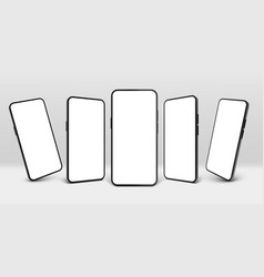 realistic smartphone mockup mobile phone display vector image