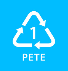 Recycle arrow triangle pete types 1 isolated on vector