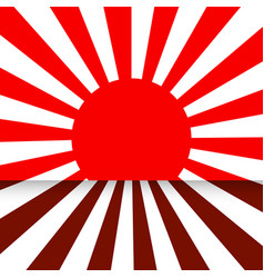 red sun rays on the wall and floor popular vector image