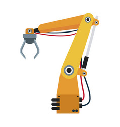 Robotic hand theme automation robot vector