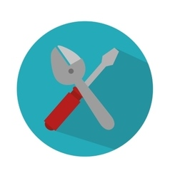 screwdriver and wrench isolated icon vector image