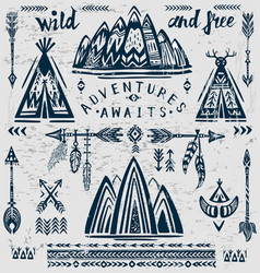 Set of on the theme of travel and adventure vector