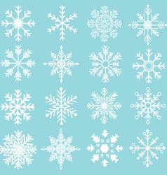 Snowflakes Silhouette Collections vector