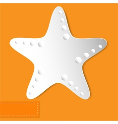 starfish orange background vector image