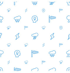 storm icons pattern seamless white background vector image