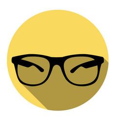 Sunglasses sign flat black vector