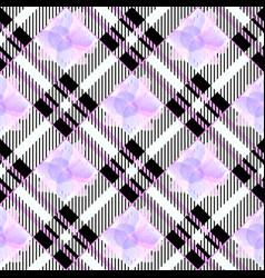 tartan seamless pattern background ultra violet vector image