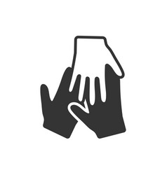 Teamwork unity icon vector