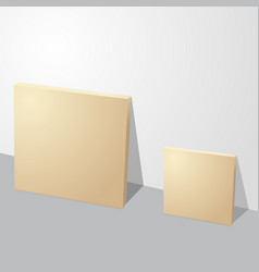thin two cardboard paper boxes vector image