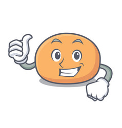 thumbs up mochi character cartoon style vector image