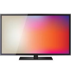 TV flat screen lcd plasma realistic vector