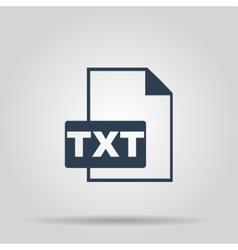 TXT Icon concept for design vector image