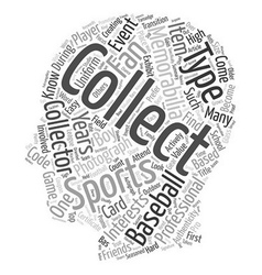 Types Of Sports Collectibles And Memorabilia text vector image